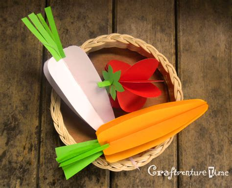 3d Craft Paper - paper veggie craft 3d paper fruits and vegetables ls