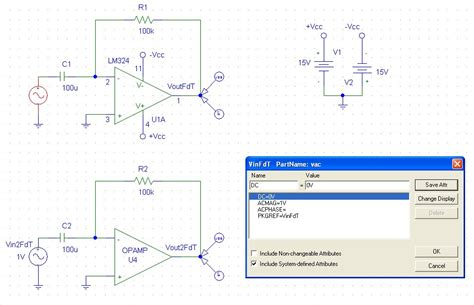 integrator circuit using lm324 pspice simulations op differentiator using the ideal lm324 lfier part this simulation