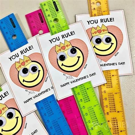 How To Make A Paper Ruler - ruler valentines free printable s day card for