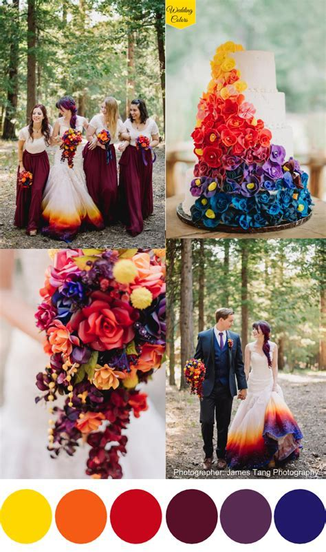 A Woodsy Summer Wedding inspired by Colors of the Sunset