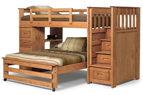 bunk beds stairs bunk beds with stairs twin over full bingewatchshows com image bed plans and desk boys