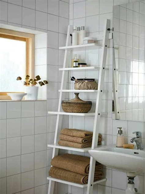 Balungen Toilet Brush Holder White Towels Ladder And Sinks Bathroom Ladder Shelves
