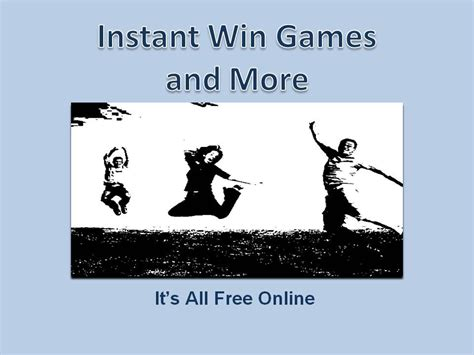 Play Instant Win Games Online Free - 25 instant win games you can play daily for prizes its all free online free