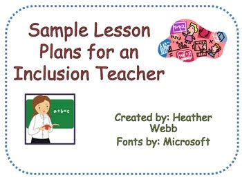 lesson plan template for sp by heather webb teachers