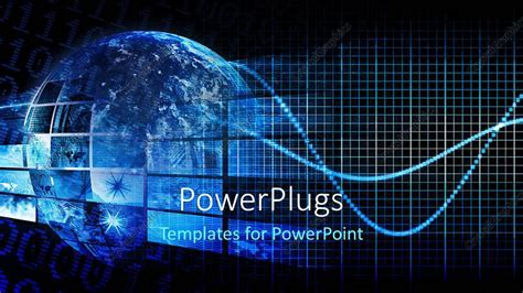 High tech powerpoint templates high tech powerpoint template powerpoint template a blue globe with hi tech images toneelgroepblik Choice Image