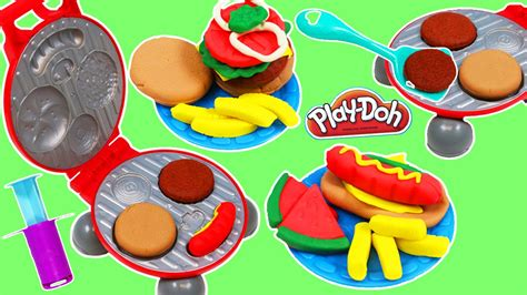 Doh Barbeque Set new play doh burger barbecue grill playset