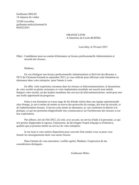 Exemple Lettre De Motivation En Pdf Cover Letter Exle Exemple De Lettre De Motivation Pour Une Formation Par Alternance