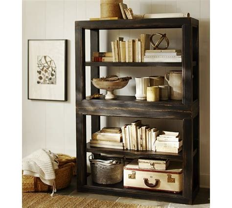 dawson bookcase pottery barn living room pinterest