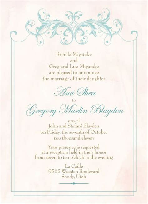 Wedding Invitations Lds by Lds Temple Wedding Invitation Wording Search