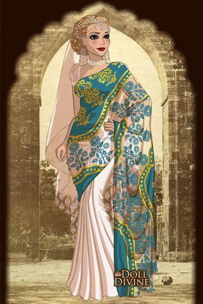 Design Saree Maker | bride by arwenabendstern created using the sari doll