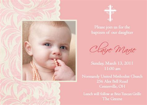 Baptism Invitations For Girl Christening Invitation Background For Baby Girl Baptism Christening Invite Template