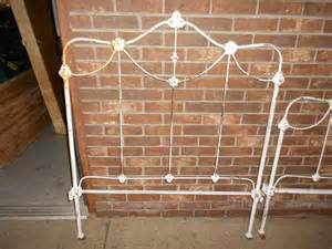 details about antique ornate cast iron bed headboard