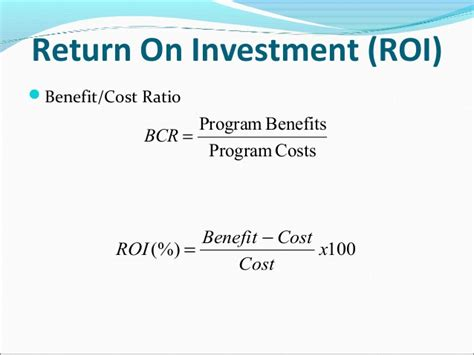 Executive Mba Return On Investment by Hr Return On Investment Roi