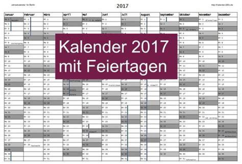 Kalender 2017 Freeware Kalender 2017 Mit Feiertagen Freeware De