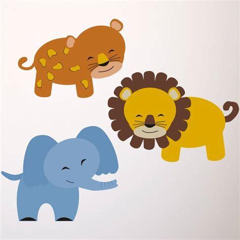 safari animal wall stickers safari animal wall stickers by mirrorin notonthehighstreet