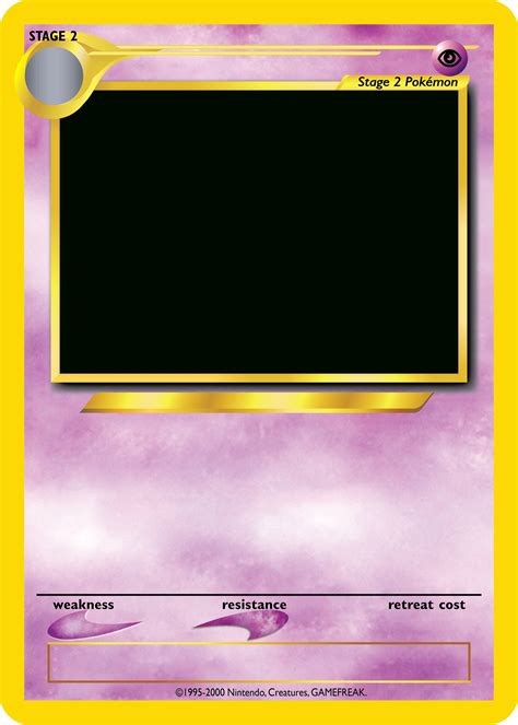 Pokemon Trading Card Template Reactorread Org Template Cards
