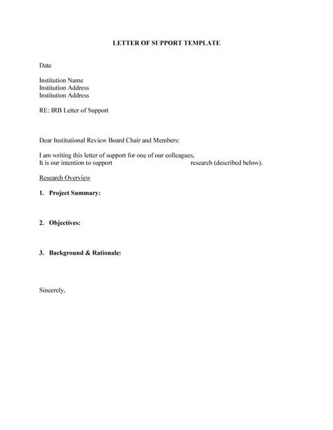 letter of support template 40 proven letter of support templates financial for
