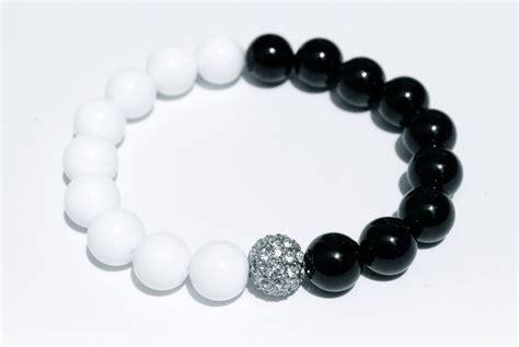 black and white bead bracelet black beaded bracelet for images