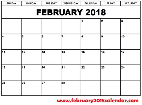 work plan calendar template 2018 february 2018 calendar site provides calendar template