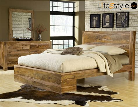size bed sheesham wood furniture solid wood