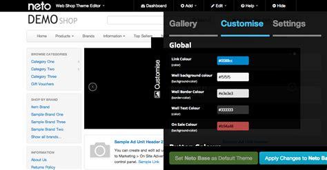 editor theme header neto s theme editor released neto ecommerce solutions