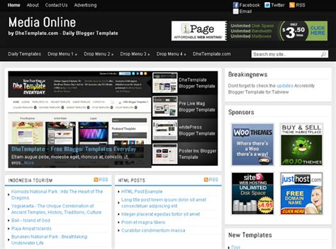 blogger templates for tv channels 25 best free responsive blogger templates ever seo