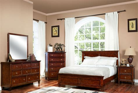 New Classic Bedroom Furniture Tamarack Brown Cherry Youth Panel Bedroom Set From New Classic Coleman Furniture