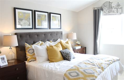 Yellow And Grey Bedroom Decor Ideas Thrifty And Chic Diy Projects And Home Decor