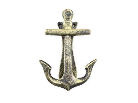 nautical home decor wholesale buy antique gold cast iron decorative anchor door knocker