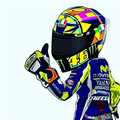 rossi logo vale quot cartoon racing quot valentino rossi pinterest