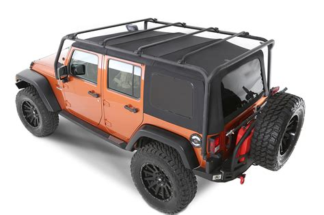 jeep roof smittybilt 76717 smi src roof rack in textured black for