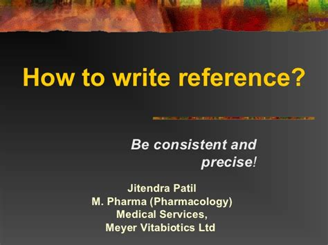 how to write reference s