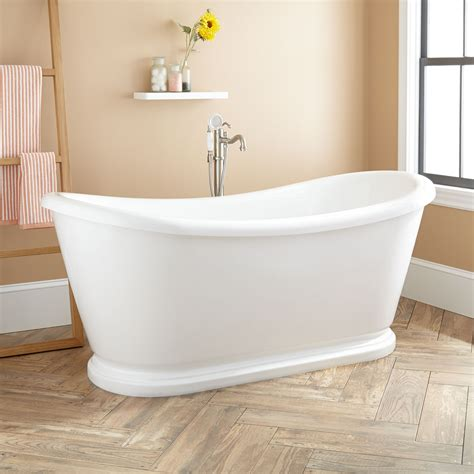 Bathroom With Shower And Tub 70 Quot Howerton Acrylic Slipper Tub Freestanding Tubs Bathtubs Bathroom