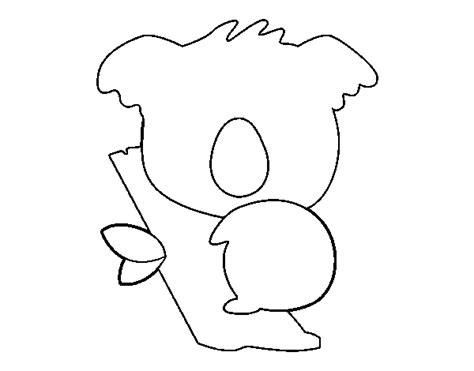 imagenes para colorear koala dibujo de koala beb 233 para colorear dibujos net