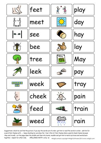 ai vowel pattern vowel digraphs ai ay and ee illustrated widgit