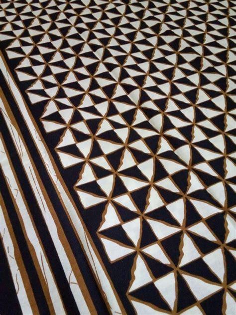 Blouse Coklat Mira kain batik print motif poleng wajik batikmal