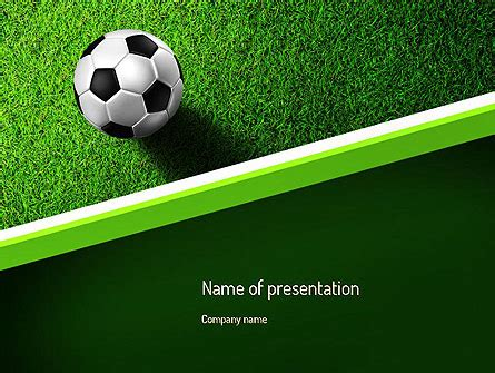 Soccer Ball Near Line Presentation Template For Powerpoint And Keynote Ppt Star Soccer Powerpoint Template