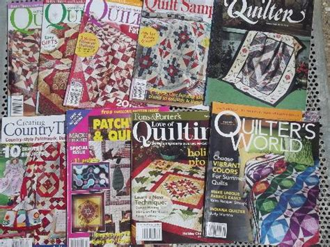 The Quilt Pattern Magazine by Lot Quilt Pattern Quilting Magazines 50 Back Issues
