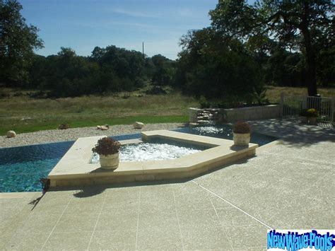 backyard wave pool austin residential backyard spas new wave pools austin