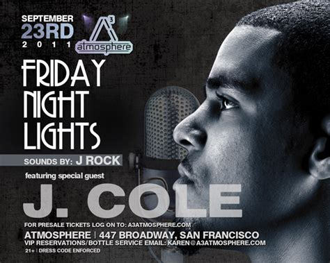 j cole friday lights friday lights special guest j cole tickets fri