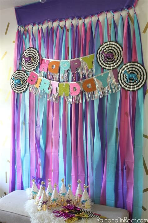 background decoration for birthday party at home sparkly horse birthday party