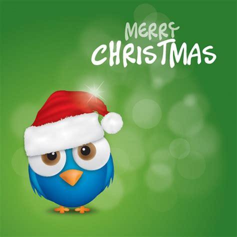 merry christmas bird vector