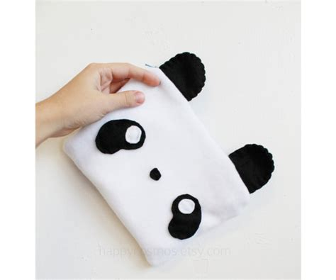Sticker Velcro Panda Panda Pouch Animal Make Up Bag Kawaii Pencil 3ds