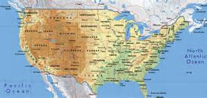 Physical Map Of Usa by Geography Blog Physical Map Of The United States Of America
