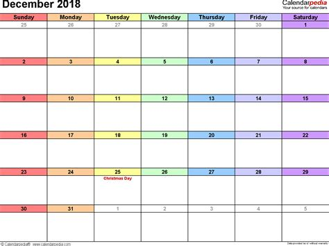 Calendars With December 2018 Calendar Template 2018 Calendar With Holidays