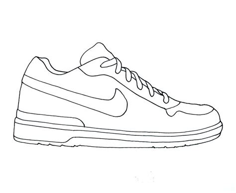 shoe drawing template nike air clipart brands shoes