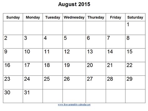 2015 U S Calendar Search Results For 2015 Printable August Calendar