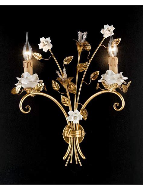 applique foglia oro applique classico ferro battuto porcellana foglia oro 2