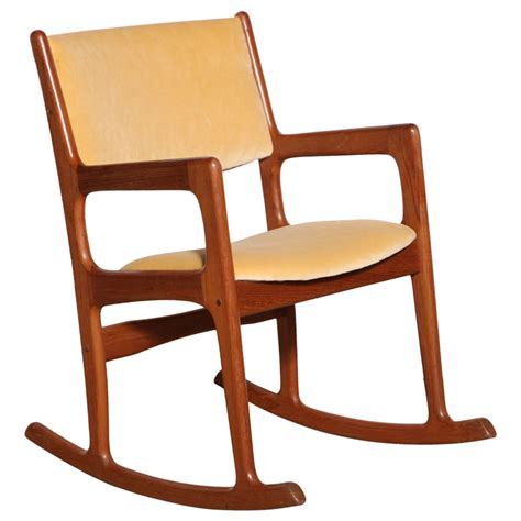Teak Rocking Chairs by Modern Teak Rocking Chair At 1stdibs