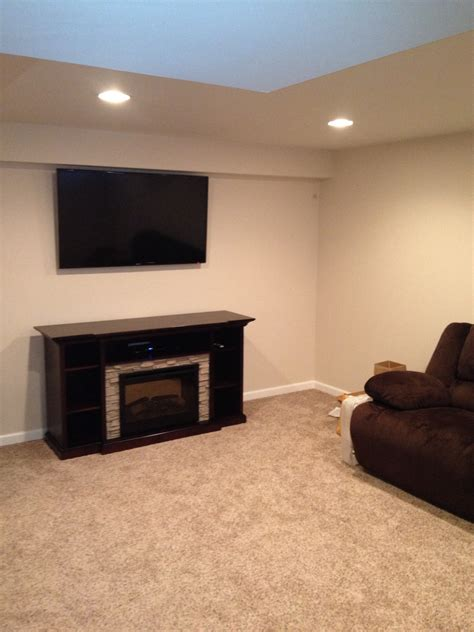 electric fireplace basement rooms